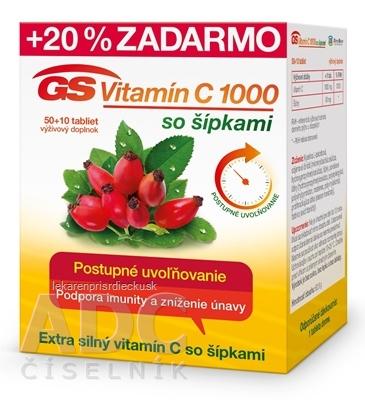 GS Vitamín C 1000 so šípkami 2016 tbl 50+10 (20 % zadarmo) (60 ks)