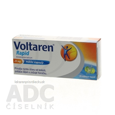 Voltaren Rapid 25 mg cps mol (blis.PVC/PVDC/Al) 1x20 ks
