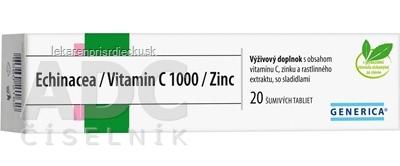 GENERICA Echinacea/Vitamin C 1000/Zinc tbl eff 1x20 ks
