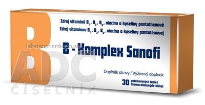 B-Komplex Sanofi tbl flm 1x30 ks