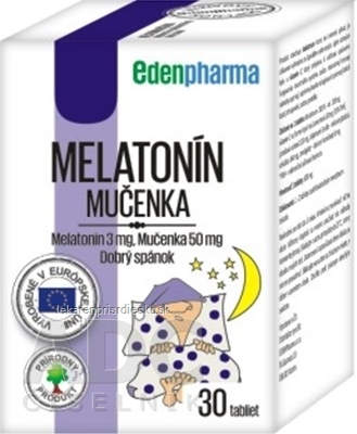 EDENPharma MELATONÍN, MUČENKA tbl 1x30 ks