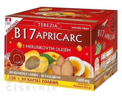 TEREZIA B17 APRICARC s marhuľovým olejom cps 150+30 zadarmo (180 ks)
