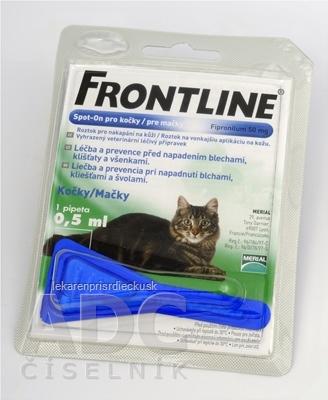 FRONTLINE Spot-on pre mačky sol (na kožu, pipeta) 1x0,5 ml