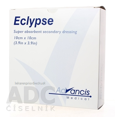 Eclypse krytie na rany superabsorpčné 10x10 cm, 1x20 ks
