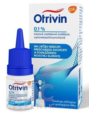 Otrivin 0,1 % int nao 1 mg 1x10 ml