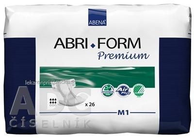 ABENA ABRI FORM Premium M1 plienkové nohavičky priedušné, boky 70-110 cm, savosť 2000 ml, 1x26 ks