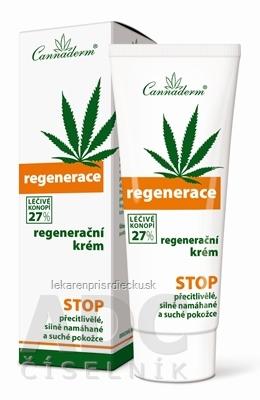 Cannaderm REGENERACE regeneračný krém na suchú pokožku 1x75 g