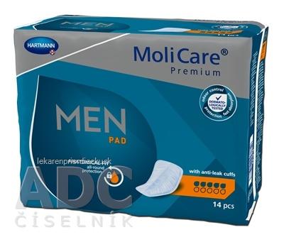 MoliCare Premium MEN PAD 5 kvapiek inkontinenčné vložky pre mužov 1x14 ks