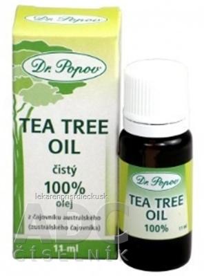 DR. POPOV TEA TREE OLEJ prírodný 100% olej z čajovníka austrálskeho 1x11 ml