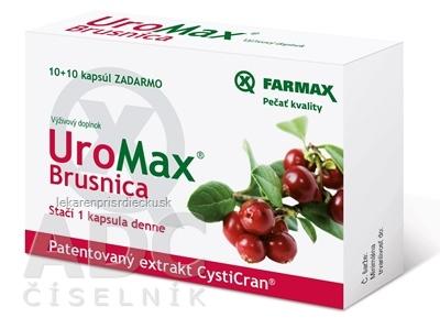 FARMAX UroMax Brusnica cps 10+10 zadarmo (20 ks)