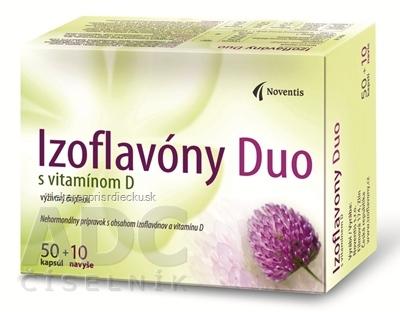 Noventis Izoflavóny Duo s vitamínom D cps mol 4x15 (60 ks)