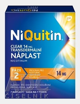 NiQuitin CLEAR 14 mg/24 h emp tdm 1x7 ks