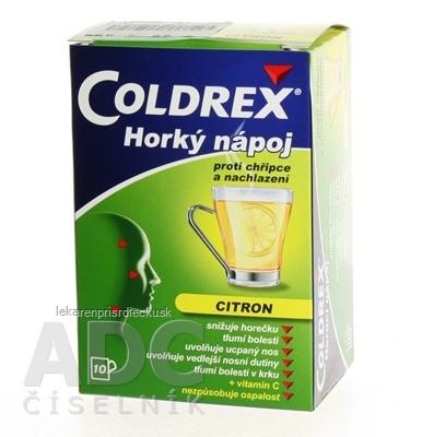 COLDREX Horúci nápoj citrón plo por 5 g (vrec.PPFP laminátové) 1x10 ks