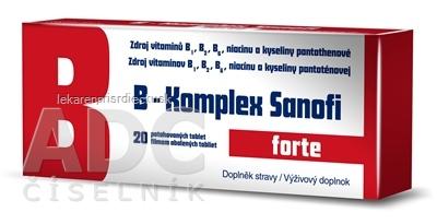 B-Komplex forte Sanofi tbl flm 1x20 ks