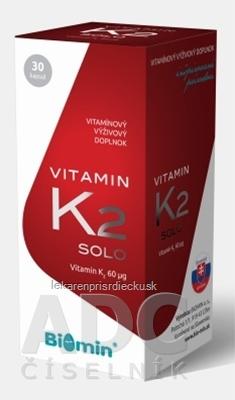 Biomin VITAMIN K2 SOLO cps 1x30 ks