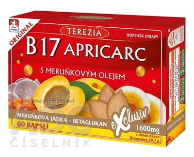 TEREZIA B17 APRICARC s marhuľovým olejom cps 1x60 ks
