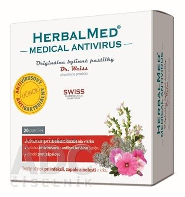 HERBALMED Medical Antivirus Dr. Weiss bylinné pastilky 1x20 ks