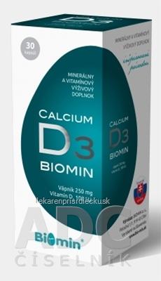 Biomin CALCIUM S VITAMÍNOM D3 cps 1x30 ks