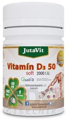 JutaVit Vitamín D3 50 soft cps 1x100 ks