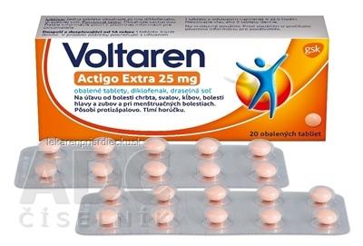 Voltaren Actigo Extra 25 mg tbl obd (blis.) 1x20 ks