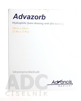 Advazorb krytie na rany hydrofilné penové 20x20 cm, 1x10 ks