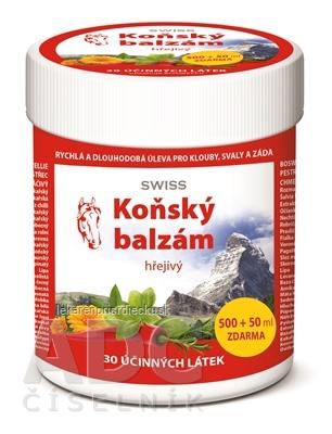 KONSKÝ BALZAM SWISS hrejivý 500+50 ml zadarmo (550 ml)