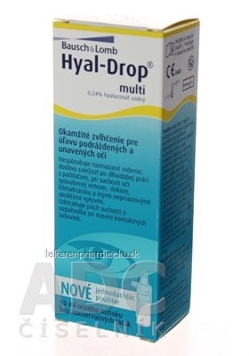 HYAL DROP MULTI očná instilácia 1x10 ml