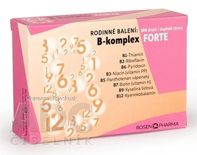 B - Komplex FORTE RODINNÉ balenie - RosenPharma dražé 1x100 ks