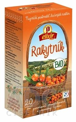 AGROKARPATY elixír BIO RAKYTNÍK prírodný produkt 20x3 g (60 g)