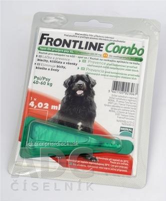 FRONTLINE Combo Spot-On pre psy XL sol (na kožu, psy 40-60 kg) 1x4,02 ml