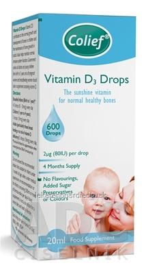 Colief Vitamin D3 Drops kvapky 1x20 ml