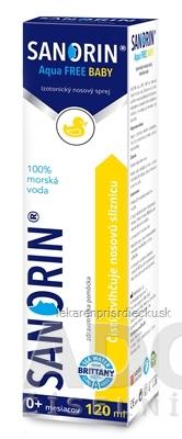 SANORIN Aqua FREE BABY (inov. 2019) izotonický nosový sprej 1x120 ml