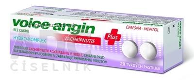 Voice-angin tvrdé pastilky bez cukru, čerešňa-mentol 1x20 ks