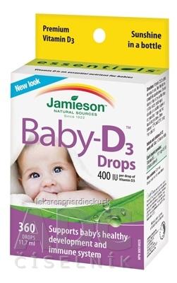 JAMIESON BABY-D3 VITAMÍN D3 400 IU KVAPKY 1x11,7 ml