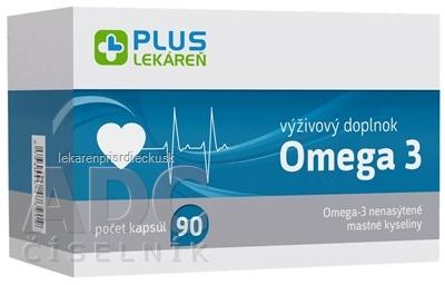 PLUS LEKÁREŇ Omega 3 cps 1x90 ks