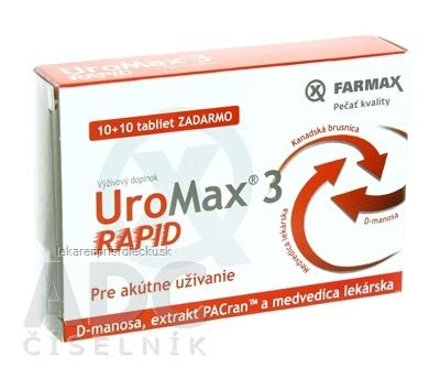 FARMAX UroMax 3 Rapid tbl 10+10 ZADARMO, 1x20 ks