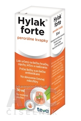 HYLAK FORTE gtt por (liek.) 1x30 ml
