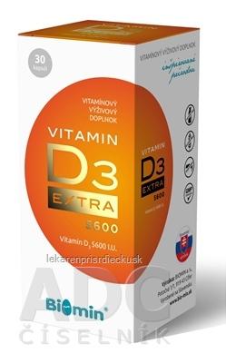Biomin VITAMIN D3 EXTRA cps (5600 I.U.) 1x30 ks