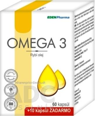 EDENPharma OMEGA 3 cps 60 +10 zadarmo (70 ks)