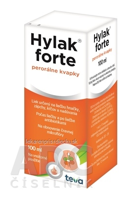 HYLAK FORTE gtt por (liek.) 1x100 ml