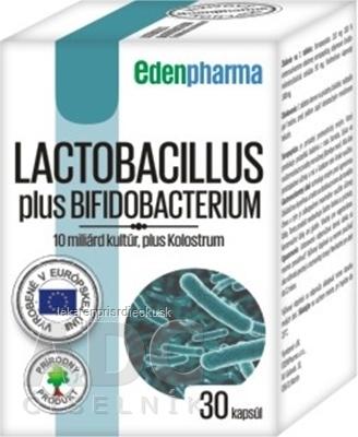 EDENPharma LACTOBACILLUS PLUS BIFIDOBACTERIUM cps 1x30 ks