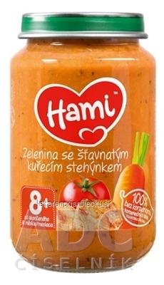 Hami príkrm Zelenina so šťavnatým kuracím stehienkom (od ukonč. 8. mesiaca) 1x200 g
