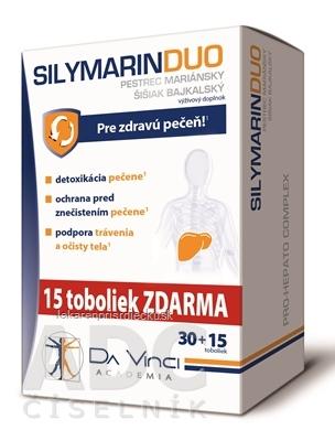 SILYMARIN DUO - DA VINCI cps 30+15 zadarmo (45 ks)