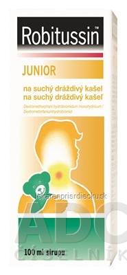 Robitussin JUNIOR sir (liek.skl.) na suchý dráždivý kašeľ 1x100 ml