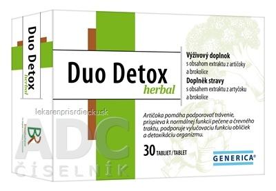 GENERICA Duo Detox herbal tbl 1x30 ks