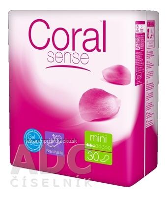 Coral Sense Mini vložky inkontinenčné, pre ženy, 1x30 ks