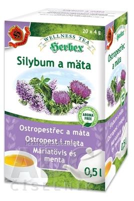 HERBEX Silybum a mäta bylinná zmes (wellness tea) 20x4 g (80 g)