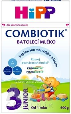 HiPP 3 JUNIOR Combiotik mliečna batoľacia výživa (od 1 roku ) 1x500 g