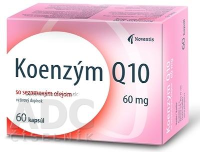 Noventis Koenzým Q10 60 mg so sezamovým olejom, cps 1x60 ks