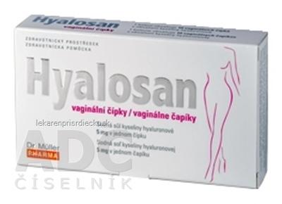 Dr. Müller HYALOSAN vaginálne čapíky s kyselinou hyalurónovou 1x10 ks